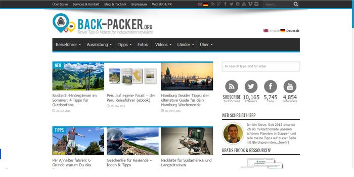 Reiseblog Back-packer.org