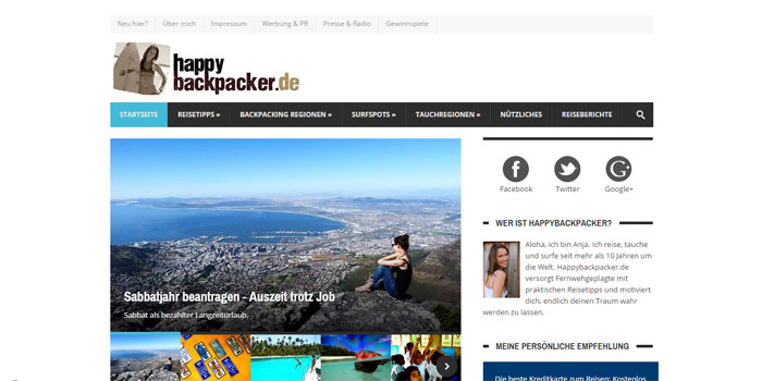 Reiseblog Happy Backpacker