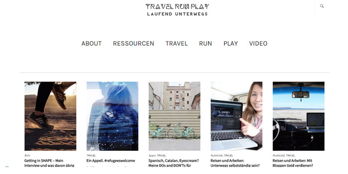 Reiseblog Travel Run Play