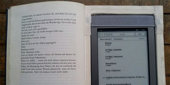 Kindle in Buch verstecken