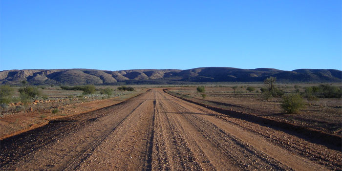Dirtroad in Australien