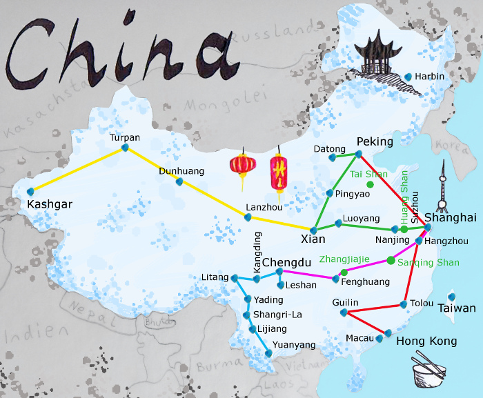 china backpacking route