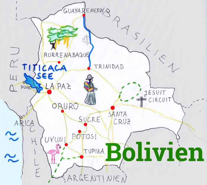 Bolivien Backpacking Route
