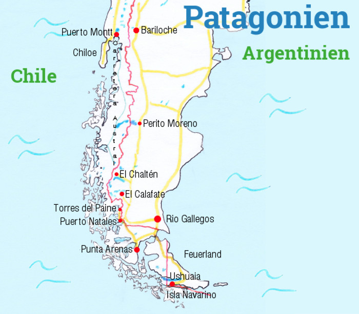 Patagonien Highlights Karte.Backpacking Hacks Patagonien Vom Feinsten Die Highlights