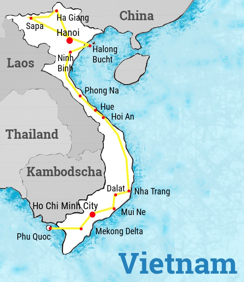 vietnam-backpacking-route-karte