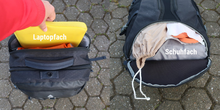 global-companion-40l-eagle-creek-test-rucksack-laptopfach-schuhfach handgepäck