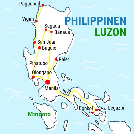 luzon_backpacking_karte