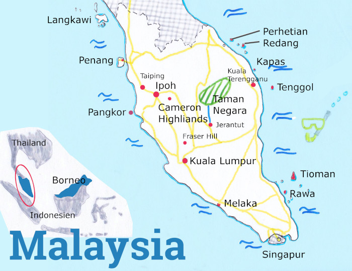 backpacking-malaysia-karte-route-2020